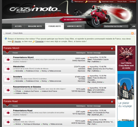 Forum du site Crazy Moto